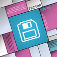 floppy disk icon sign Modern flat style for your vector image vector image