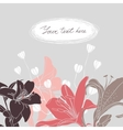 Floral card with place for your text vector image vector image