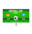 football cup billboard template with place for vector image vector image