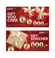 gift voucher coupon template for your business vector image vector image