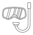 Goggles and tube for diving icon outline style vector image vector image
