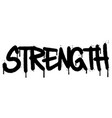 graffiti strength word sprayed isolated on white vector image vector image