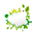 Green Eco Speech Bubble vector image