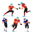 gridiron players american football game collection vector image