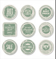 grounge round paper stickers 3 vector image vector image
