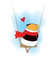 Guinea pig sad on the swings vector image vector image