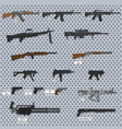 guns detailed images vector image