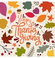 happy thanksgiving day concept vector image