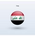 Iraq round flag vector image vector image