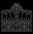 iron ornamental gate vector image vector image