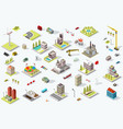 isometric city map set vector image
