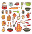 kitchenware cookware for cooking and vector image vector image