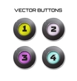 label set 4 color buttons with glass vector image