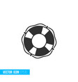 lifebuoy icon in silhouette flat style isolated vector image