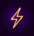 lightning neon label vector image