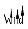 logo wild image vector image vector image
