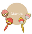 maraca in hand-drawn style vector image vector image