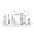 miami city skyline vector image