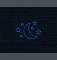 Moon and stars sign icon sleep dreams symbol