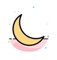 moon night sleep natural abstract flat color icon vector image vector image