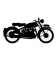 motor cycle silhouette vector image