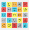 nature icons set collection of spider moth vector image vector image