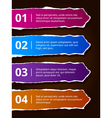 Paper number options banners vector image