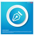 pen nib icon vector image vector image