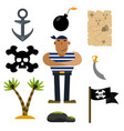 pirate icons pirate of icon sets vector image vector image