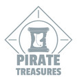 pirate logo simple gray style vector image vector image