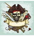Pirate Skull logo design vector image vector image