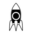 rocket start up symbol vector image vector image