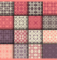 set of seamless ornamental pattern vector image vector image