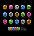 shipping and tracking icons - gelcolor series vector image vector image