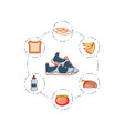 shoes tennis with set icons vector image