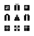 Silhouettes of gift boxes isolated vector image vector image