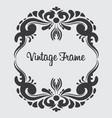 square vintage frame floral ornament vector image