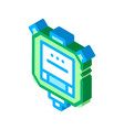 stop watch isometric icon vector image vector image