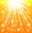 Sun rays and light effects vector image vector image