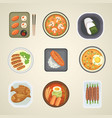 traditional japan food meal cooking culture lunch vector image vector image