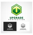 upgrade symbol vector image vector image