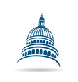 usa capitol building icon vector image