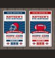 vertical football invite tickets vector image vector image