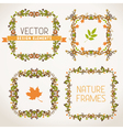 Vintage autumn frames vector image vector image
