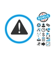 Warning Error Flat Icon with Bonus vector image vector image