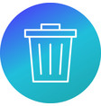 waste icon vector image vector image