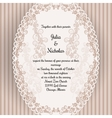 Wedding card with oval elegan design vector image vector image