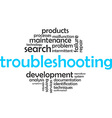 word cloud troubleshooting vector image
