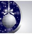 xmas silver ball vector image vector image