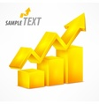 Yellow chart with arrow vector image vector image